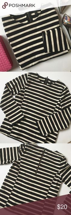 J crew cotton pullover 100% cotton. Zippered back. Heavier in weight. 23 inches long. 22.5 inch sleeve. Approximately 36 inch bust J. Crew Tops