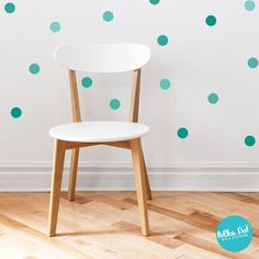 Shades of Turquoise Polka Dot Wall Decals