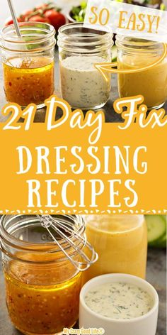 These delicious 21 Day Fix Dressings are healthy and FIXed Make your own with these recipes and make better decisions in the store with my buying tips 21 Day Fix Salad Dressing 21 Day Fix Salads Portion Fix Salad Dressing Portion Fix Dressings beachbody 21 Day Fix Desserts, 21 Day Fix Snacks, 21 Day Fix Diet, Weight Loss Meals, Planning Budget, Meal Planning, Clean Eating Snacks, Clean Lunches, Healthy Eating