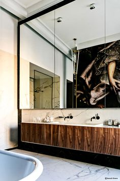 Moussinet Interior Design # Bathroom M Gallery Odessa - Modern Interior Exterior, Bathroom Interior Design, Interior Architecture, Interior Livingroom, Shower Remodel, Remodel Bathroom, Beautiful Bathrooms, Bathroom Inspiration, Home Decor Accessories