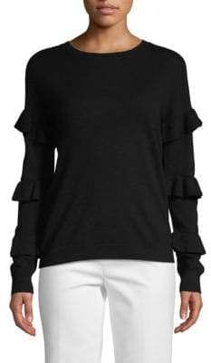 d5b30f228 Tiered Ruffled-Sleeve Sweater #sleevesRib#shouldersLong#CrewneckDropped  Ruffle Sleeve, Saks Fifth