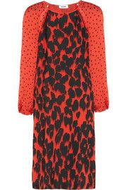 Moschino Cheap and Chic Printed silk dress