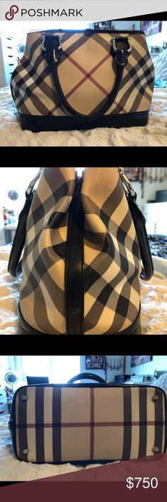 Burberry Handbag 100% Authentic TRADE OPTION Good condition Burberry Handbag! Only minor wear. Handles are in perfect condition. No tears or stains on the outside. Looks great, taken well care of. The inside has a couple white marks nothing major and hardly noticeable.   WILL TRADE ONLY FOR A SPEEDY 25 or 30 any print. In good condition. Burberry Bags Satchels