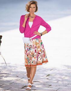 811843c3d76159 Jupe, blanc/multicolore, orange, blanc | MADELEINE Fashion Belgique