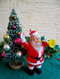 Outdoor Light Up Santa Tacky plastic santa claus snowman outdoor christmas empire blow vintage plastic christmas rosbro santa claus blowing horn candy container workwithnaturefo