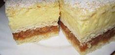 Vaníliapudingos almás csoda - Egy az Egyben Cheesecake, Biscuits, Vanilla Cake, Sweets, Snacks, Baking, Desserts, Recipes, Food