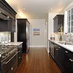 Galley Kitchen Remodel Dark Cabinets 2 tone melamine kitchen | 2 tone melamine kitchen | pinterest