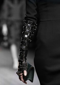 Embellished Leather Gloves - glam armour fashion details // Dolce & Gabbana Fall 2014