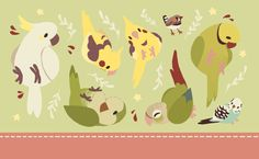 """crowske: """" GET A LOAD OF THESE BIRDS (im gonna be turning this into little coin purses omg!!!) """""""