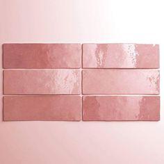 Buy Artisan Rose Mallow x Wall Tile by Equipe from our Wall Tiles range - x - @ Dantotsu Tiles Direct, Pink Tiles, Stills For Sale, Metro Tiles, Tiles Online, Ceramic Wall Tiles, Mindanao, Aqua Color, Colour