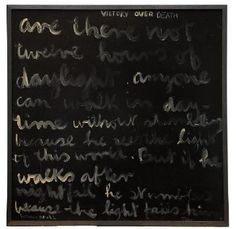 Colin McCahon - Auckland Art Gallery Victory over death 1969 Auckland Art Gallery, New Zealand Art, Venice Biennale, Modern Masters, European Paintings, Large Art, Visual Identity, Victorious, Contemporary Art