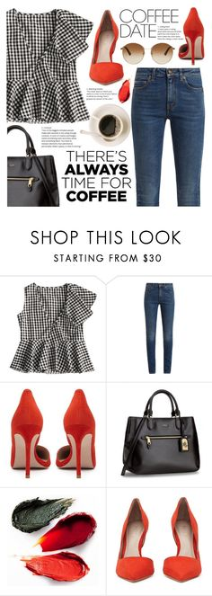 """Coffee Date."" by yoo-q ❤ liked on Polyvore featuring Yves Saint Laurent, Rituel de Fille, Gucci, contestentry and CoffeeDate"