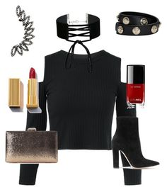 """""""Hard"""" by mayaandrews88 on Polyvore featuring Miss Selfridge, Versace, Gianvito Rossi and Chanel"""