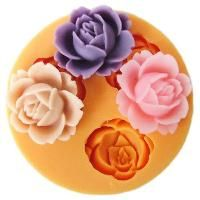 Resin Obsession - Open rose flower silicone mold
