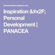 Inspiration / Personal Development   PANACEA