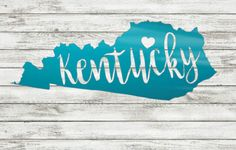 Kentucky Decal Sticker for Yeti Cup Kentucky by JustVinylDesigning