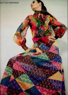 YVES SAINT LAURENT patchwork maxi dress 1969 #allthingsmay