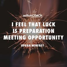 "You don't just get lucky. You grind for days, months or years in the dark, preparing, learning, growing — and only then are you ""lucky. Business Inspiration, Oprah Winfrey, Success Quotes, Leadership, Inspirational Quotes, Motivation, Feelings, Business Coaching, Twitter"