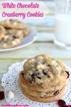 Want a quick treat that's a little different from your usual chocolate chip cookie? You won't be able to stop eating these delicious White Chocolate Cranberry Cookies!: