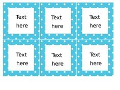Editable Labels for book bins and more- MANY COLORS!