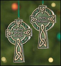 Celtic Merry Christmas Ornament