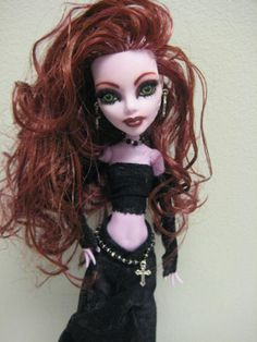 Ooak Goth Monster High Operetta Doll Artist Doll One of a Kind
