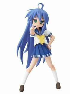 Lucky Star Konata Izumi Summer Uniform Non-Scale Figma Action Figure by Max Factory. $70.00. Accessories included changeable hands and faces. Height approx 13cm.. Bonus Yutaka Kobayakawa Head. It's a figma, pose all you want. Back again in her summer uniform!!! Konata Izumi from the popular 'Lucky Star' series is here once again, this time wearing her summer uniform! Using the smooth yet poseable joints of figma, you can act out various scenes. A flexible plastic is ...
