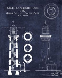 Green Cape Lighthouse Print 8 X 10 Architectural By ScarletBlvd
