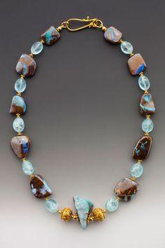 Boulder opal necklace by Elle Schroeder
