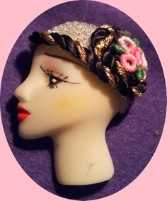 flapper lady flat back resin fabric hats superb finish £3.50 each
