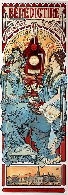 Alphonse Mucha Luchon Art Nouveau Deco LARGE A3 Sized Poster /& FREE Dance Print