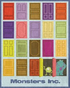 Monster's Inc. Would like be to design a quilt around the door concept... Hmmm.