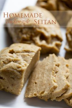 chicken seitan! the method is genius, and I will be using it for other seitan recipes.