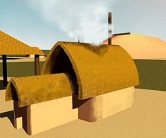 An exception was the keyhole house built in the town of Kolomoki between around 200 AD and 600 AD. It later was built at Cahokia Mounds, Illinois.