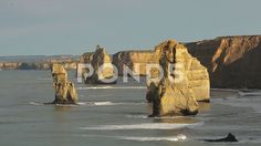Twelve Apostels at Great Ocean Road - Stock Footage | by JahnProductions