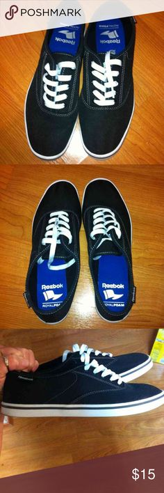 """Like-New Reebok royal foam tennies! Made by Reebok. Lightweight tennies. They are from the """"royal foam"""" line. Black in color, like new condition. Reebok Shoes Athletic Shoes"""