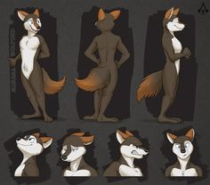Commission: Murana Wolford's Reference Sheet by Temiree.deviantart.com on @DeviantArt #anthro #anthropomorphic #canine #colored #digital #expressions #faces #inked #reference #shaded #sheet #wolf #wolford #murana #digitalmarker #art  Reference sheet commission for darkflame-wolf, featuring her character Murana Wolford! They needed a proper reference showing off her colors and markings, and then threw in some expressions too for the heck of it. :D I'm still getting used to drawing female…