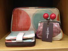 #sophiaandmatt Big Spot print! Our #clippurse, #wallet, and #washbag. Designed by Sophia & Matt, #Greenwich #London