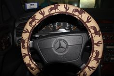 Cowboy Steering wheel cover - Aztec wheel cover - Tribal wheel cover - Unisex wheel cover - Car accessories  . by SouthernAplus on Etsy