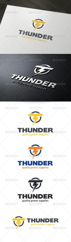 Letter T - Thunder Logo