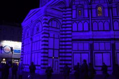 Firenze, il Meyer colora il Battistero di luce blu