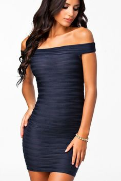 navy blue bodycon