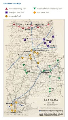 Civil War Map.  Tennessee Valley Trail part of our family history