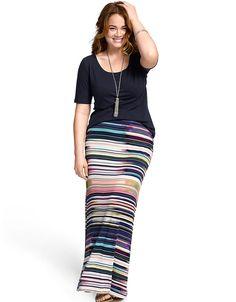 Striped maxi skirt by Lane Bryant | Lane Bryant