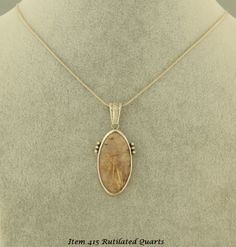Golden Rutilated Quarts Necklace $93.00  This Item Was SOLD