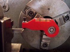 This is a tool for adjusting your cutters to the rotational axis of your lathe. This will help to prevent breakage from facing with a tool set too high, or poor surface finish with the tool set too low, or too high. Metal Lathe Tools, Metal Lathe Projects, Diy Lathe, Metal Working Tools, Homemade Lathe, Homemade Tools, Barbecue Original, Machinist Tools, Lathe Machine