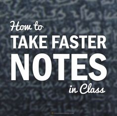 How to Take Faster Handwritten Notes Using Shorthand Techniques - Save time I'm your college classes with this technique. Great tips for college students! College Success, College Notes, College Classes, College Years, Education College, College Hacks, Student Success, Freshman Year, Student Life