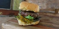 Jersey Veal Burgers with Milk Buns and Zucchini Relish