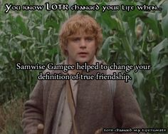 You know LOTR changed your life when...