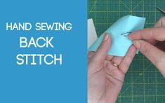 Back Stitch Sewing Stitches, Back Stitch, Hand Sewing, Paper, Punto De Cruz, Sewing By Hand, Stitches, Sewing Coat, Hand Stitching